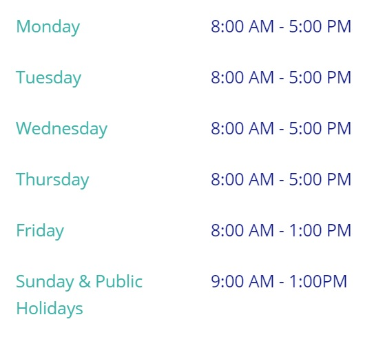 Procare Radiology Operating Times